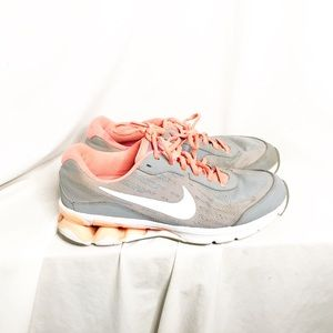Nike Gray and Orange ReAx Sneakers size 9